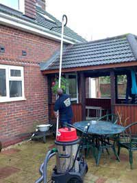 High reach gutter cleaning Virginia Water
